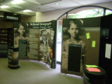 Exhibit cases at Lynchburg event