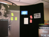 Post-it notes attached to second exhibit unit