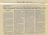 Woodstock for Writers:' 23rd Annual Literary Festival Set for Oct. 2-6