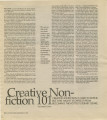 Creative Nonfiction 101: Creative Nonfiction Is Hard to Define. But That Hasn't Stopped It From...