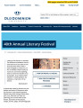 Web Site:  40th Annual Literary Festival, 2017