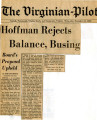 Hoffman Rejects Balance, Busing
