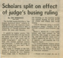 Scholars Split On Effect of Judge's Busing Ruling