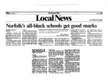 Norfolk's All Black Schools Get Good Marks