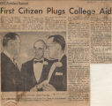 First Citizen Plugs College Aid