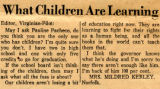 What Children are Learning
