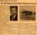 Superintendent J. J. Brewbaker: It all started at Old Tintop School