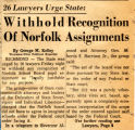 26 Lawyers Urge State: Withhold Recognition of Norfolk Assignments