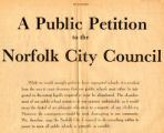 A Public Petition to the Norfolk City Council