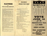 1960 Norfolk City Council Election Brochure