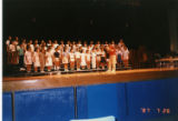 Stanger Rehearsing with Children's Choir