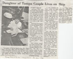 Daughter of Tampa Couple Lives on Ship