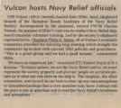 Vulcan Hosts Navy Relief Officials