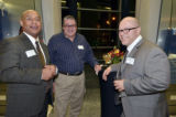Charles Wilson, Robert Wojtowicz and Guest at 2013 Waldo Lecture Reception