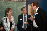 Karp, Serfaty, and Kempe at the 2010 Waldo Family Lecture reception