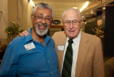 DeSilva and Whitehurst at the 2010 Waldo Family Lecture reception
