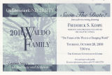 """Save the Date"" Postcard for 2010 Waldo Family Lecture Series on International Relations"