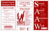 Sexual Assault Awareness Week  Oct. 15-20