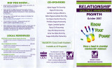 Relationship Violence Awareness Month  October 2007; Know Your Power;  have a hand in stopping...
