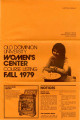 Old Dominion University Women's Center Course Listing Fall 1979