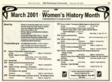 March 2001 National Women's History Month