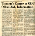 Women's Center at ODU Offers Aid, Information