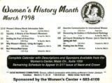 Women's History Month March 1998