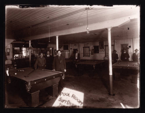 Men in a Pool Hall